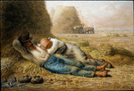 jean francois millet noonday rest by unknown artist painting