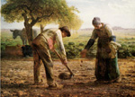 jean francois millet potato planters by unknown artist painting