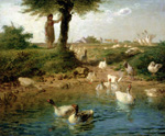 jean francois millet the goosegirl 1866 by unknown artist painting