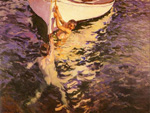 joaquin sorolla y bastida the white boat 84362 by unknown artist painting