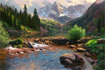 rocky mouintain grandeur by mark keathley by unknown artist painting