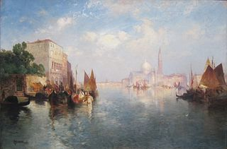 thomas moran venice 1887 by unknown artist painting
