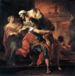 unknown artist art - aeneas carrying anchises by carl van loo by unknown artist