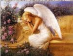angel at rest by tadiello by unknown artist painting