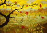 apple tree with red fruit by paul ranson by unknown artist painting
