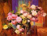 unknown artist bischoff roses painting 77613