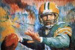 brett favre 98 by unknown artist painting