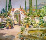 ccooper a santa barbara courtyard by unknown artist painting