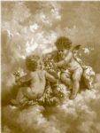 charles lutyens cherubs making posies by unknown artist painting