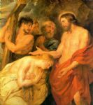 christ and mary magdalene by rubens by unknown artist painting