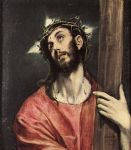 christ carrying the cross by unknown artist painting