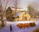 clime the stone mill ice house by unknown artist painting