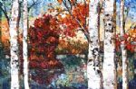 colours of autumn by unknown artist painting