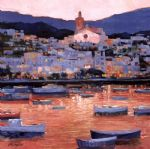 costa brava sunset by unknown artist painting