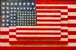 jasper johns three flags by unknown artist painting