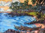 koloa landing by unknown artist painting