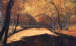landscape paintings - landscape in autumn by unknown artist