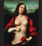 mary magdalene holy grail by unknown artist painting
