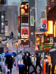 new york pedestrians by liam spencer by unknown artist painting