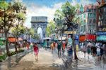 unknown artist paris street scene painting