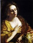 unknown artist penitent magdalene by artemisia gentileschi painting