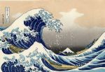 the great wave of kanagawa by katsushika hokusai by unknown artist painting