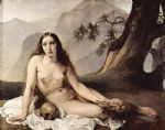 unknown artist the penitent mary magdalene by francesco hayez painting