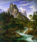 unknown artist the wetterhorn with the reichenbachtal painting