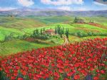 tuscany poppies by unknown artist painting