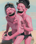 yue minjun lovers painting