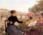 flower paintings - a parisian flower market by victor gabriel gilbert