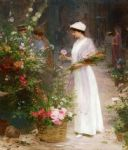 victor gabriel gilbert picking flowers painting 81604