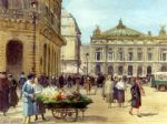 victor gabriel gilbert the flower seller place de l opera paris painting 83603