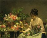 victor gabriel gilbert the flower seller painting 24045