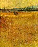vincent van gogh arles view from the wheat fields painting