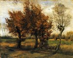 vincent van gogh autumn landscape with four trees paintings