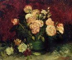 vincent van gogh bowl with peonies and roses painting 23380