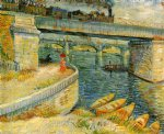 vincent van gogh bridges across the seine at asnieres painting