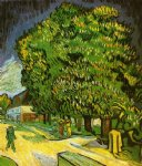 vincent van gogh chestnut trees in bloom v painting