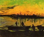vincent van gogh coal barges v painting