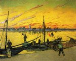 vincent van gogh coal barges painting