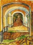 vincent van gogh corridor in saint painting