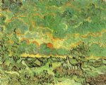 vincent van gogh cottages and cypresses reminiscence of the north painting