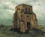 vincent van gogh country churchyard and old church tower oil painting