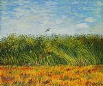 vincent van gogh edge of a wheat field with poppies and a lark painting-23422