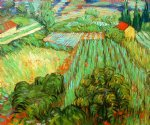 vincent van gogh field with poppies ii painting-23450