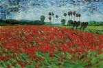 vincent van gogh field with poppies iii painting-23451