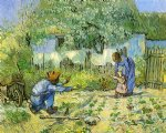 first steps after millet by vincent van gogh painting
