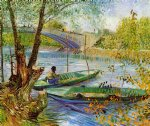 vincent van gogh fishing in the spring pont de clichy painting