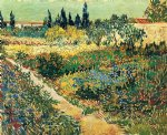vincent van gogh garden with flowers ii oil painting